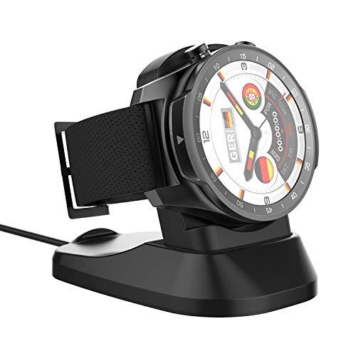 MoKo Base de Carga para Ticwatch Pro,Soporte de Carga USB de Repuesto Estación de Adaptador Portátil para ticwatch Pro 2020, Ticwatch Pro Reloj - Negro