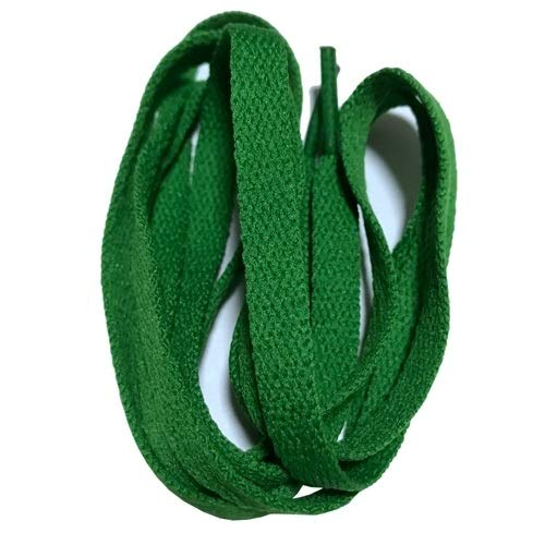 XPWOZ 8 mm Ancho de la Plana Cordones Cordones de Zapato for los Zapatos de Las Zapatillas de Deporte 24 Colores de 80cm / 100cm / 120cm / 140cm / 160cm (Color : No 19 Green, Size : 150cm)