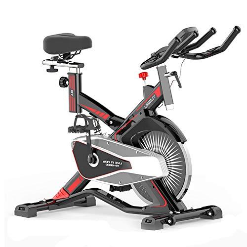 Bicicleta Spinning Profesional,Bicicleta Estatica LCD Multifunción Electronica Sensor de Frecuencia Cardiaca,Resistencia Variable...