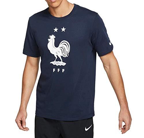 Nike T-Shirt FFF Frankreich Evergreen Crest Obsidian (L)