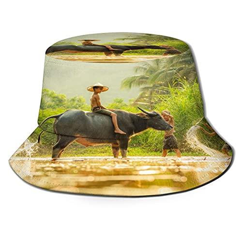 Shower Animals Unisex Casual Bucket Sun Hat Fisherman Cap for Fishing Hiking Camping