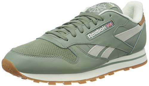 Reebok Classic Leather, Sneaker Hombre, Harmony Green/Chalk Lee, 43 EU