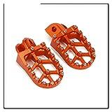 Reposapiés Moto CNC Reposapiés Pedales Para K&TM SX SXF EXC EXCF XC XCF XCW XCFW 65 85 125 150 250 300 350 450 530 TC FC TE FE FS Estriberas (Color : Orange)