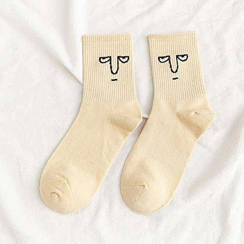 CYMTZ 5 Pares/Paquete De Calcetines De Algodón para Mujer Calcetines Cálidos Y Divertidos De Moda Lindos Y Felices 2
