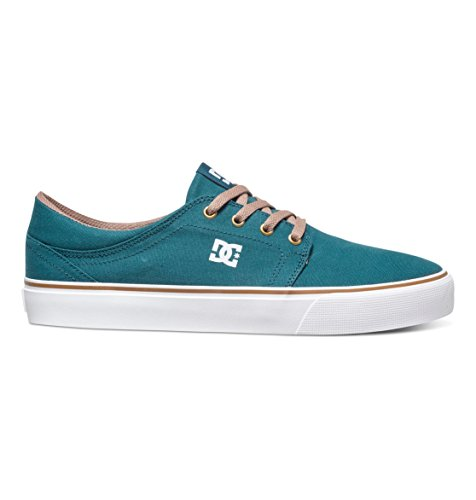 DC Shoes Mens Shoes Trase Tx - Low Shoes - Unisex - US 4 - Grey Teal US 4 / UK 3 / EU 36