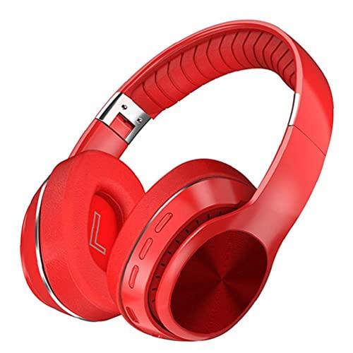Odoukey-Auricolari HiFi HiFi Auricolare wireless Pieghevole Stereo Stereo Annullamento Cuffie con microfono rosso