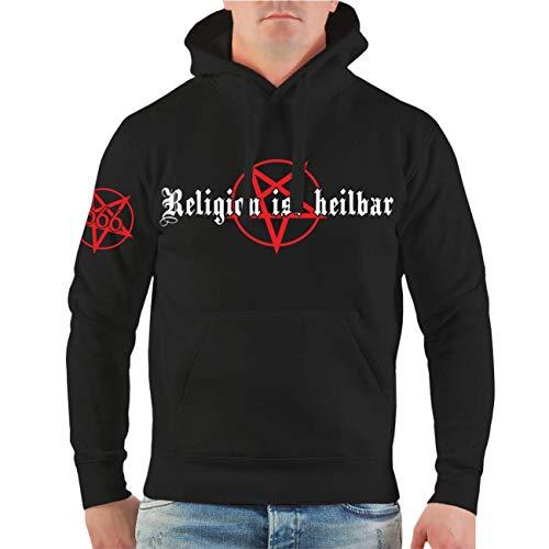 Männer und Herren Kapuzenpullover Religion ist heilbar Größe S - 8XL