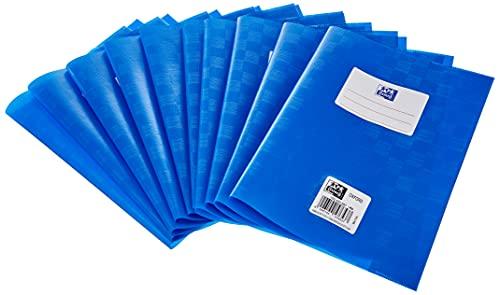 Hefthüllen A5, Baststruktur, mit Beschriftungsetikett, blau, 10 Stück