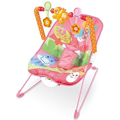 NXYJD Baby elektrischer Schaukelstuhl Multifunktionsmusik vibrierender Shaker Kinder Schaukelstuhl Liegespielzeug (Color : A)