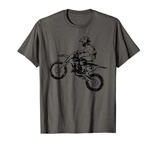Dirt Bike Jump Motocross Motorcycle Track Racing Biker Gift Camiseta