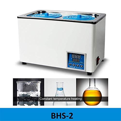 Digital-Thermostat-Wasserbad mit zuschaltbarem Öffnungen, digitaler Thermostatwasserbad Laborwasserbad, elektrischer Digitalanzeige Wasserbad mit konstanter, RT bis 100 ° C, 3L Kapazität, 300W,B