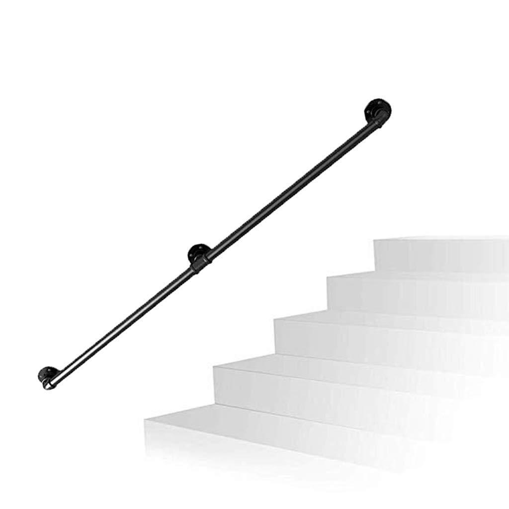 GOHHK Baranda Escalera Hierro 25-300 Cm - Kit Completo. Seleccione Su TamañO: Barandilla Seguridad La Pared Riel La Escalera para BalcóN, Escaleras, Pasillo: Amazon.es: Hogar