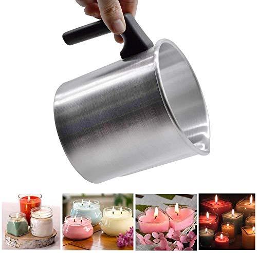 PEXWELL Kerzenschmelztopf, Wachsbad (1,2 l/3 l), Wachsschmelzbecher, DIY-Wachs-Badeinsatz für Duftkerzen, Gießtopf im Kerzengeschäft, zum Herstellen von Kerzen und Seifen Basteln
