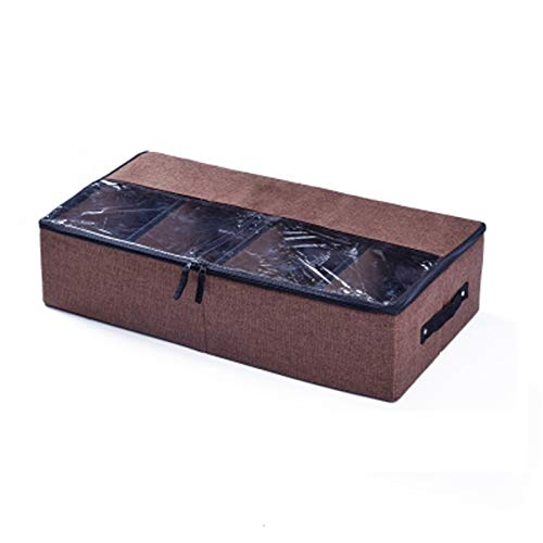 Pistaz - Organizador de ropa grande con separadores ajustables de tela duradera, asa reforzada, 4 ventanas transparentes para ropa, zapatos, mantas