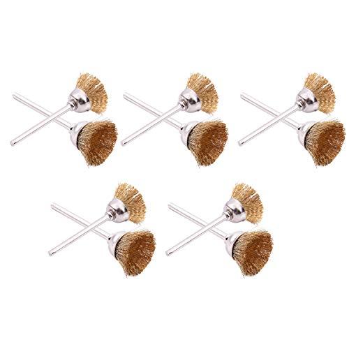 SODIAL(R)10 morceaux de fil de laiton brosse Polierbuerste