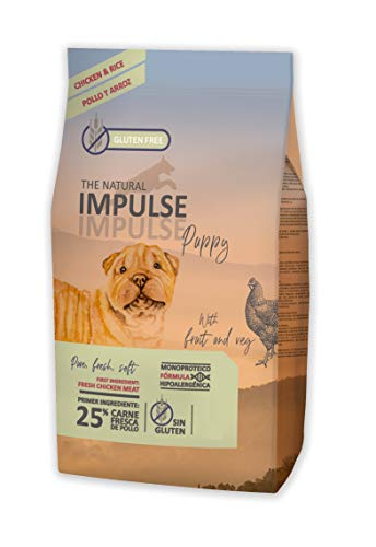 IMPULSE Pienso para Perros Natural Dog Puppy Chicken 12 Kg