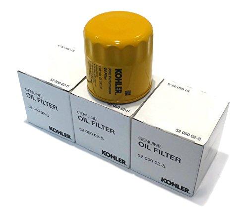 3 New OEM KOHLER OIL FILTERS 52 050 02-S 5205002-S Small Gas Engine Lawn Mower /supplytheropshop