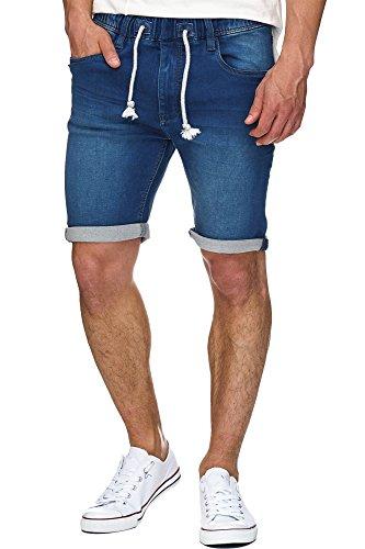 Indicode Heren Kadin sweatshort met 5 zakken, 82% katoen | Kort Broek Used-Look Shorts Met denim look zomerbroek Sweat Pants Jeans-Look Vrijetijdsbroek Voor Mannen
