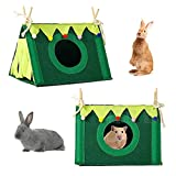 Mgichoom Túnel de animales pequeños con cortina de forro polar pequeño conejo conejo, conejo, guinea escondite nido de juego juguetes de Navidad escondite ropa de cama jaula de esquina accesorio
