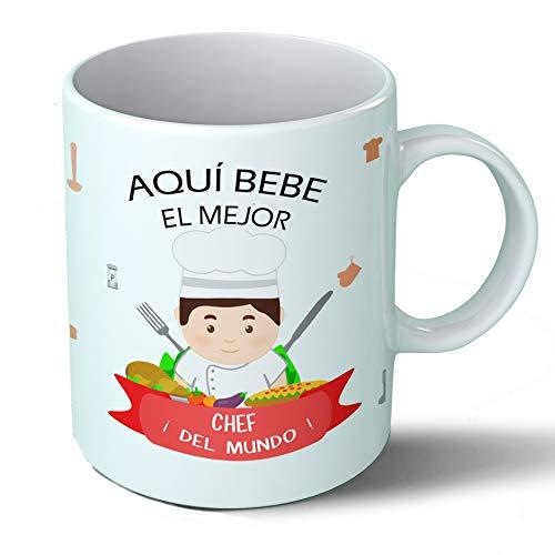 Planetacase Taza Desayuno Aquí Bebe el Mejor Chef del Mundo Regalo Original...