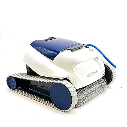 Maytronics - Dolphin Blue Maxi 10 - Robot Limpiafondos de Piscina - Automático - De Fácil Limpieza - para Piscinas Elevadas y Enterradas de hasta 8 m - Limpia Fondo - Garantía de 2 Años
