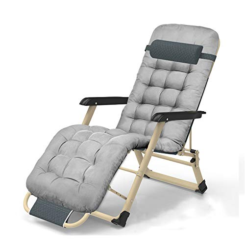 PuuuK Lunch Break Chair Single Bed Recliner Portable 5 Seconds Quick Folding Suitable for Home Office Escort March,+ velvet cotton pad