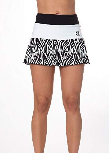 a40grados Sport & Style, Rock Floo Cebra, Frau (Damen), Tennis und Paddel (44 XL)