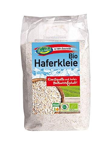Bio Haferkleie 2,5kg 100% aus Österreich, Öko, mit Keim, Eiweißquelle, Protein, ballaststoffreich 5x500g