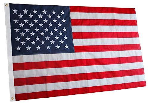rhungift Amerikaanse vlag Heavy Duty 3x5 FT, Premium Commercial Grade Langste Lasting Oxford Nylon, De beste Amerikaanse vlag | Quadruple gestikte Fly Ends |Brass Grommets for Easy Display USA Flag