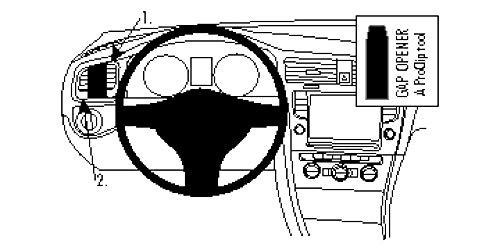 Brodit   ProClip Fahrzeughalter 804855   Made IN Sweden   Linksbefestigung   für linkslenkende Fahrzeuge   passt für alle Brodit Gerätehalter