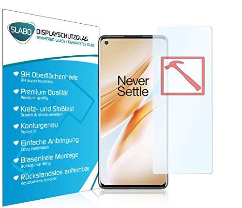 Slabo 3 x Premium Panzerglasfolie für OnePlus 8 Pro (5G) Panzerfolie Schutzfolie Echtglas Folie Tempered Glass KLAR 9H Hartglas