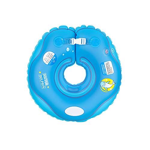 Anillo de natación para niños Anillo de Cuello Material de PVC Doble Bolsa de Aire Seguridad y Comodidad Suministros de Agua Juguetes para Piscinas Decoraciones para Fiestas en Piscinas-S(7.5cm)