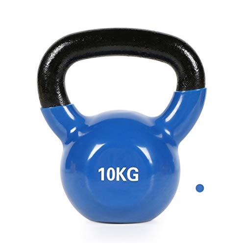 ZXQZ Fitness-Hantel Kurzhanteln, 8 Kg, 10 Kg, 12 Kg, 14 Kg Kettlebells, Gusseisenkern, zum Trainieren von Armen, Brust, Rücken, Bauch und Beinen. Kleine Hantel (Size : 10kg)
