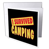 Dooni Designs Survive Sayings – I SurvivedキャンプSurvival Pride andユーモアデザイン – グリーティングカード Set of 6 Greeting Cards
