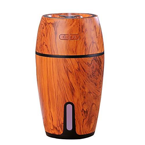 Draagbare Mini-luchtbevochtiger, 300 ml Kleine, Koele Mist-luchtbevochtiger Met Nachtlampje, Usb Personal Desktop-luchtbevochtiger Automatische Uitschakeling, 2 Miststanden, Stil,Wood grain