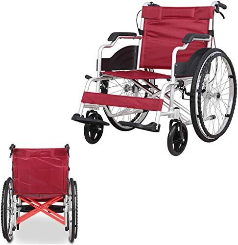 CXRen Leichte Aluminium-Transit Travel Comfort Rollstuhl, Antrieb Rollstuhl, Folding Gesundheitswesen Portable mit Bremse, Fußstützen, Armlehnen