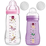 MAM Biberones Easy Active Baby Bottle Set, 270 ml plus 330 ml GirL