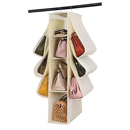 HomeFairy - Organizer da appendere, per borse, in tessuto non tessuto, 10 tasche, organizer per armadio