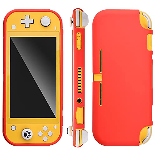 Almiao Compatible with Nintendo Switch Lite Case, Soft Silicone [Ultralight] [Shock Proof] [Anti-Slip] Protective Cover with Ergonomic Grip Design for Switch Lite 2019 (Red)