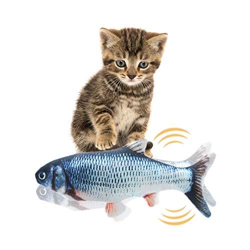 Miamasvin Elektrische Fische Katze Spielzeug, Katze Interaktive Spielzeug, Simulation Plush Fisch, Kissen Kauen Spielzeug für Katze für Katze, Kitty