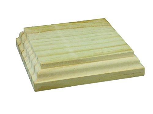 Peanas madera cuadradas. En madera de pino macizo. En crudo, se pueden pintar. Manualidades y decoración (11 * 11 cms)