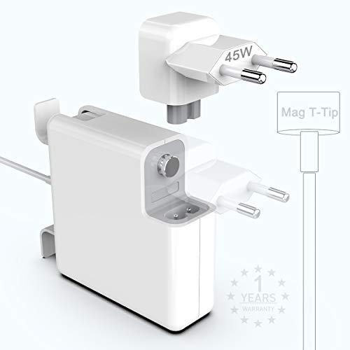 45W Cargador Mac Book Air Pro adaptador de corriente magnético con punta en T de 45 W, reemplazo del cargador para Mac Book Air 11/13 pulgadas (para Mac Book Air lanzado después de mediados de 2012)