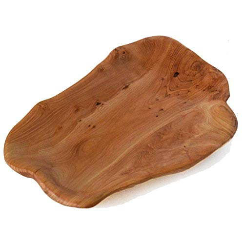 COSPRING Root Wood Dish Party Platter and Tray for Sandwich Bread Serving appetizer display Vintage ring dish Hand Carved Artworks 12-13 inch