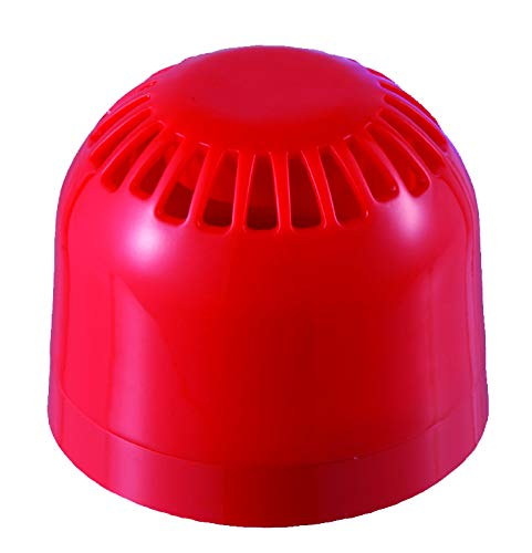 Klaxon Signals PSV-0010 Sonos Voice Sounder & Signal, flacher Boden, rot, 3 Messagen, bis zu 106 dB (A), 32 Töne, 24 V DC, 26 mA (max)