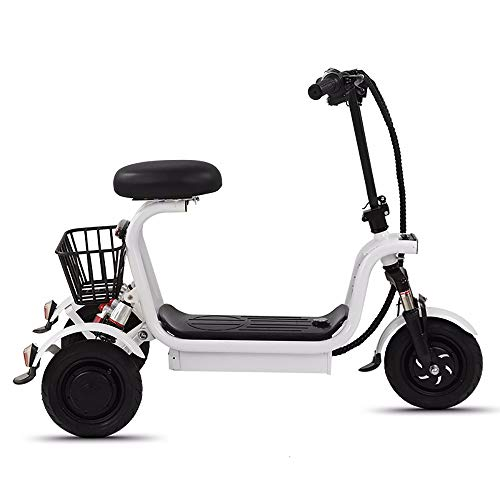 HSTD 3 Elektromobil Mit Motorrädern Auf Rädern - Elektroroller für Erwachsene, Austauschbare Batterie, Elektronische Abs-Bremsen, LED-Scheinwerfer, Elektrofahrzeuge Mit Verschleißfesten Reifen 15A