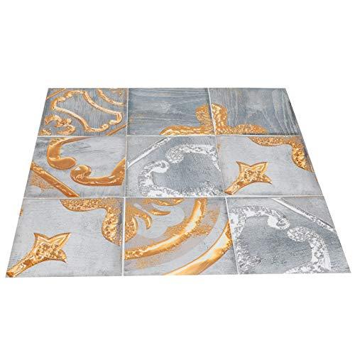 Gmkjh Adhesivo Impermeable para Azulejos, 24 Piezas Adhesivo de Pared Retro de Colores DIY Autoadhesivo Adhesivo Impermeable para Azulejos para Cocina y baño