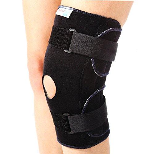 Hochwertige Kniebandage Kniestütze aus Neopren mit 2 Klettverschlüssen Gr. M ~cf1900