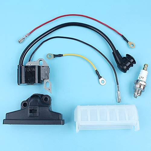 HaoYueDa Bobina de encendido y de aire Filtro y Bujía Kit Compatible con STIHL MS210 MS230 MS250 021 023 025 Piezas de repuesto for motosierras 1123 400 1301
