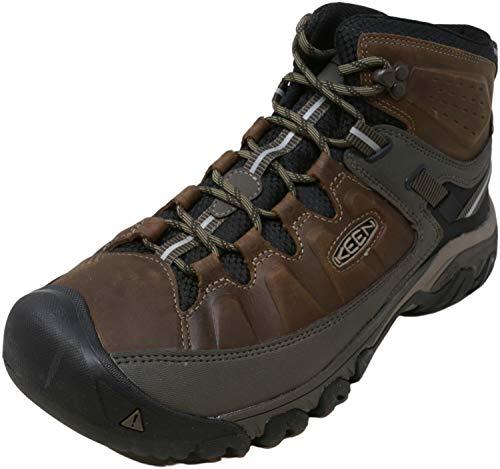 KEEN Men's Targhee iii mid Leather wp-m Hiking Boot, Bungee Cord/Black, 12 M US