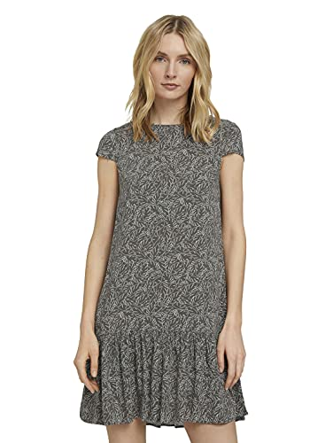 TOM TAILOR Damen 1026597 Feminine Kleid, 27411-Khaki White Outline, 40